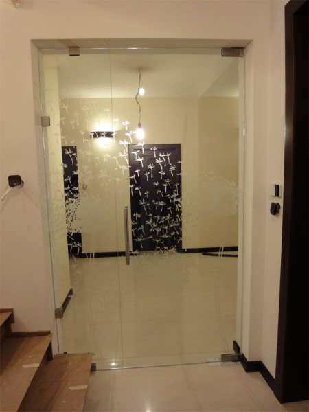 Ogromny Drzwi szklane bezościeżnicowe - DGD Galeria Drzwi FG99